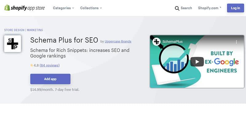 Schema Plus cho SEO - Ứng dụng SEO Shopify tốt nhất