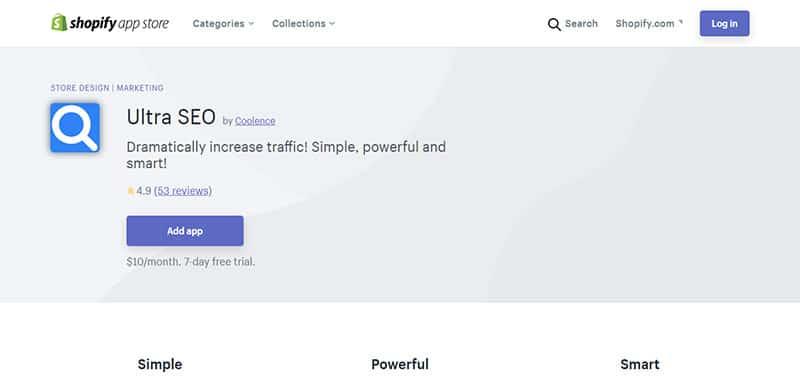Ultra SEO - Ứng dụng SEO Shopify tốt nhất